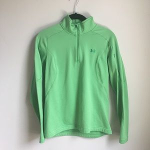 Under Armour Neon Green Mock Pullover